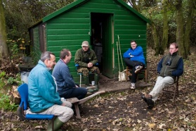 Northumbria Ringing Group members at Hauxley Ringing Station by Ian Fisher
