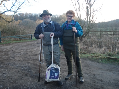 Dressed to impress: Danny and Christine ready for their first expedition searching for dippers
