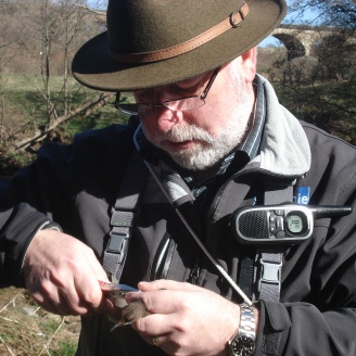 Danny looks very competent as he rings his first dipper.